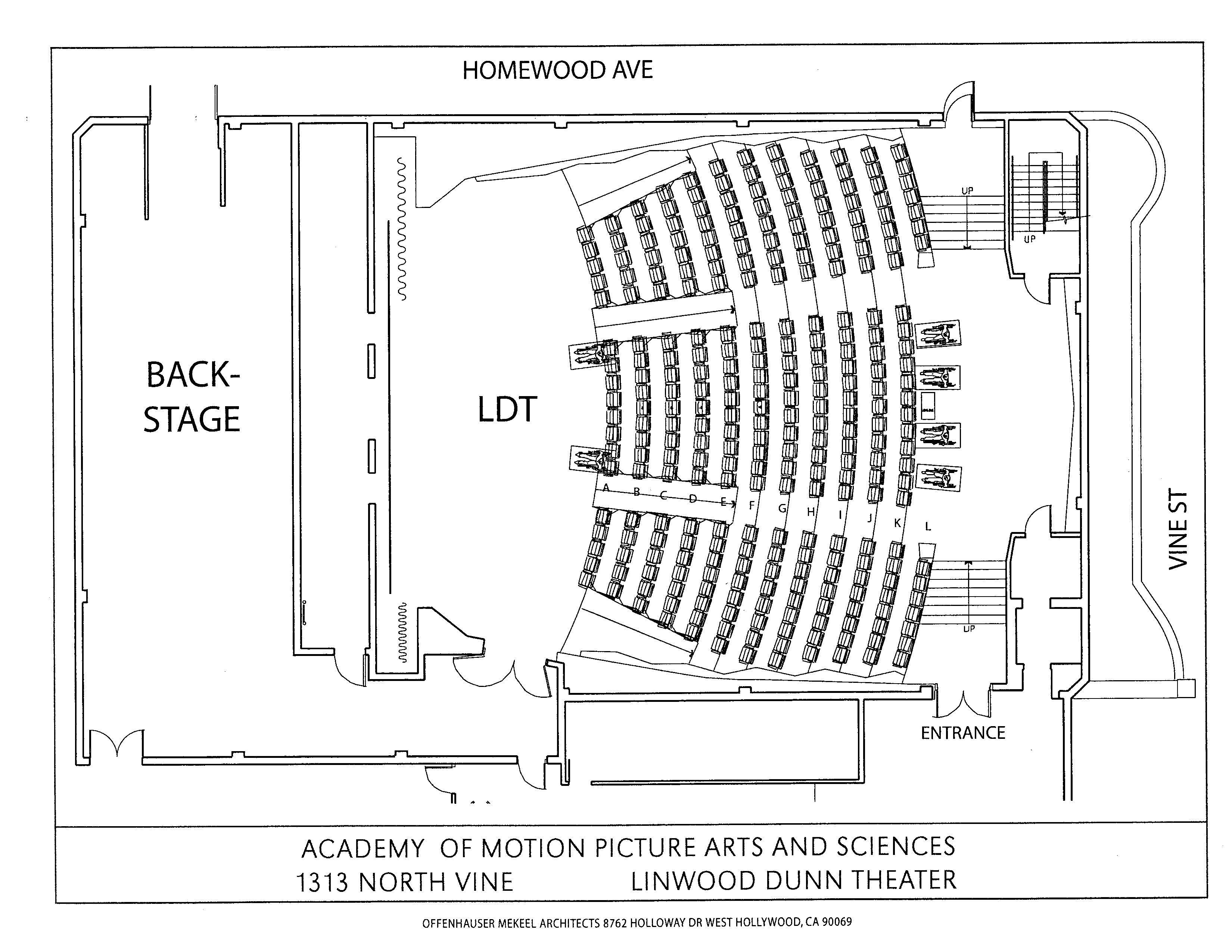 Linwood Dunn Theater Floor Plan