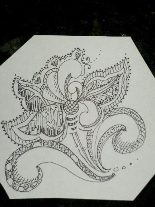if zen tangles and rosemaling had a baby together
