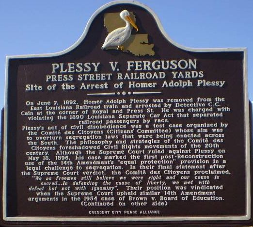 Who Were Plessy And Ferguson African American History Blog The African Americans Many Rivers To Cross African American History Louisiana History Today In Black History