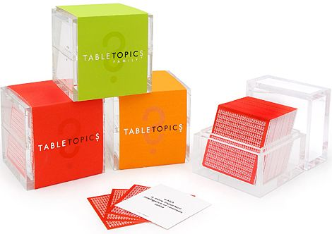 Table Topics Conversation Cards | Mom - Parenting How To's ...