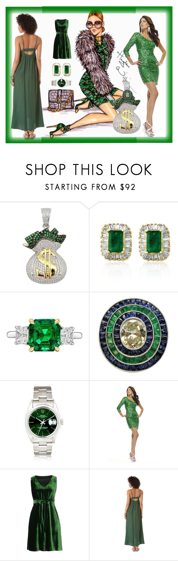 """Green with Envy!"" by bren-johnson ❤ liked on Polyvore featuring Effy Jewelry, Betteridge, Scala and Aspesi"