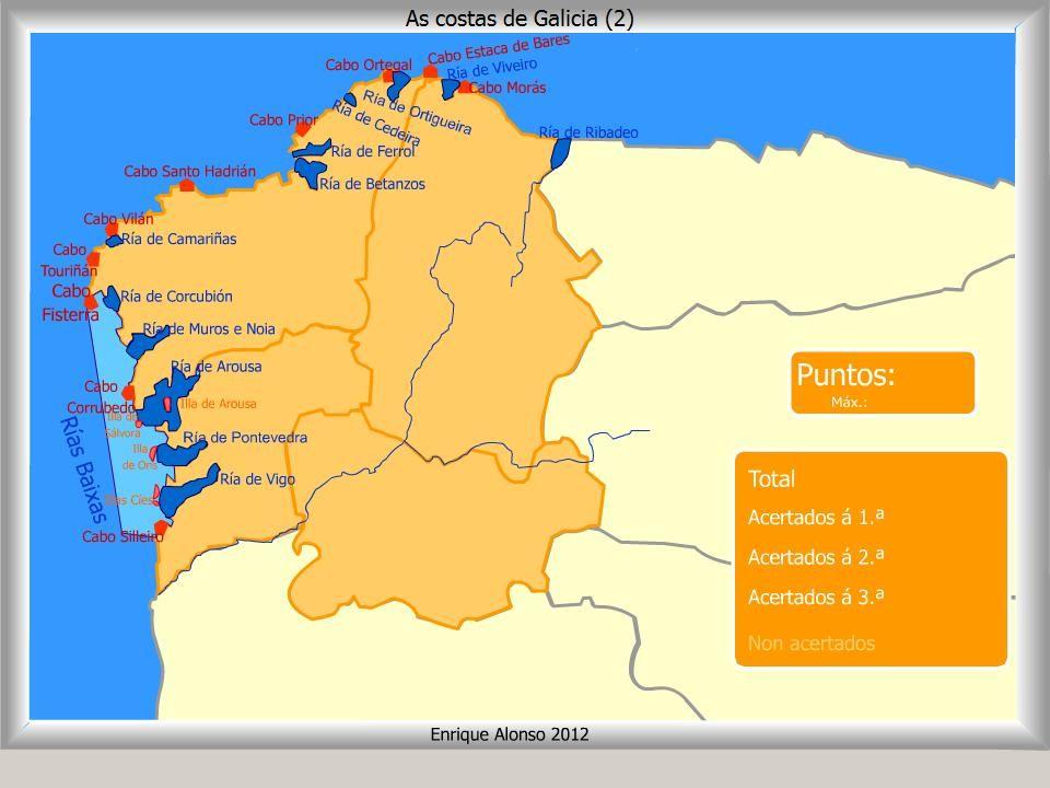 Cabo Ortegal Mapa Fisico.Mapa Fisico Galicia Buscar Con Google Mapa Fisico Mapas