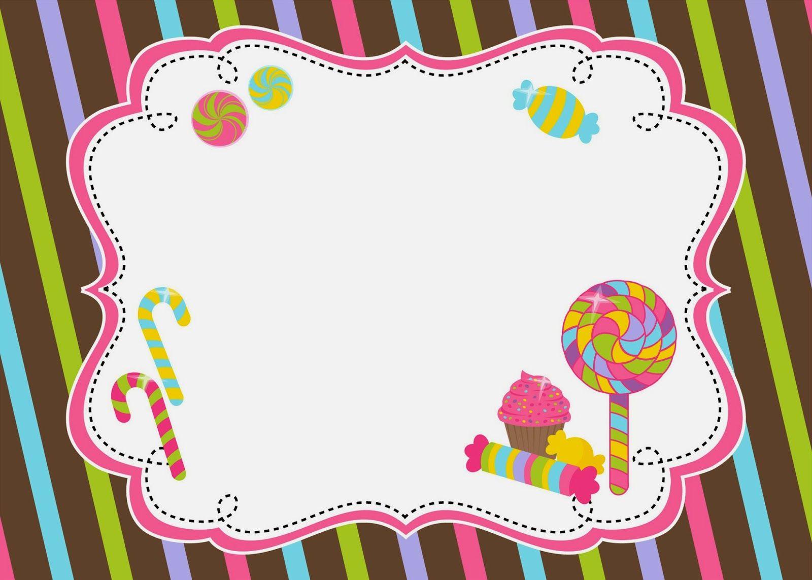 Help Festas e Personalizados: Convites Prontos - Candy Party ...