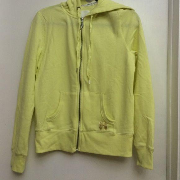 Supermodel essentials victoria secret hoodie Brand new lemon yellow color Victoria's Secret Sweaters