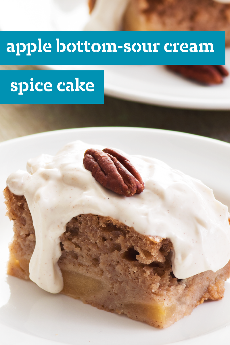 Apple Bottom Sour Cream Spice Cake In Search Of A Recipe That Can Be Ready For The Oven In Just 10 Minutes Recipes Using Cake Mix Sour Cream Cake Spice Cake
