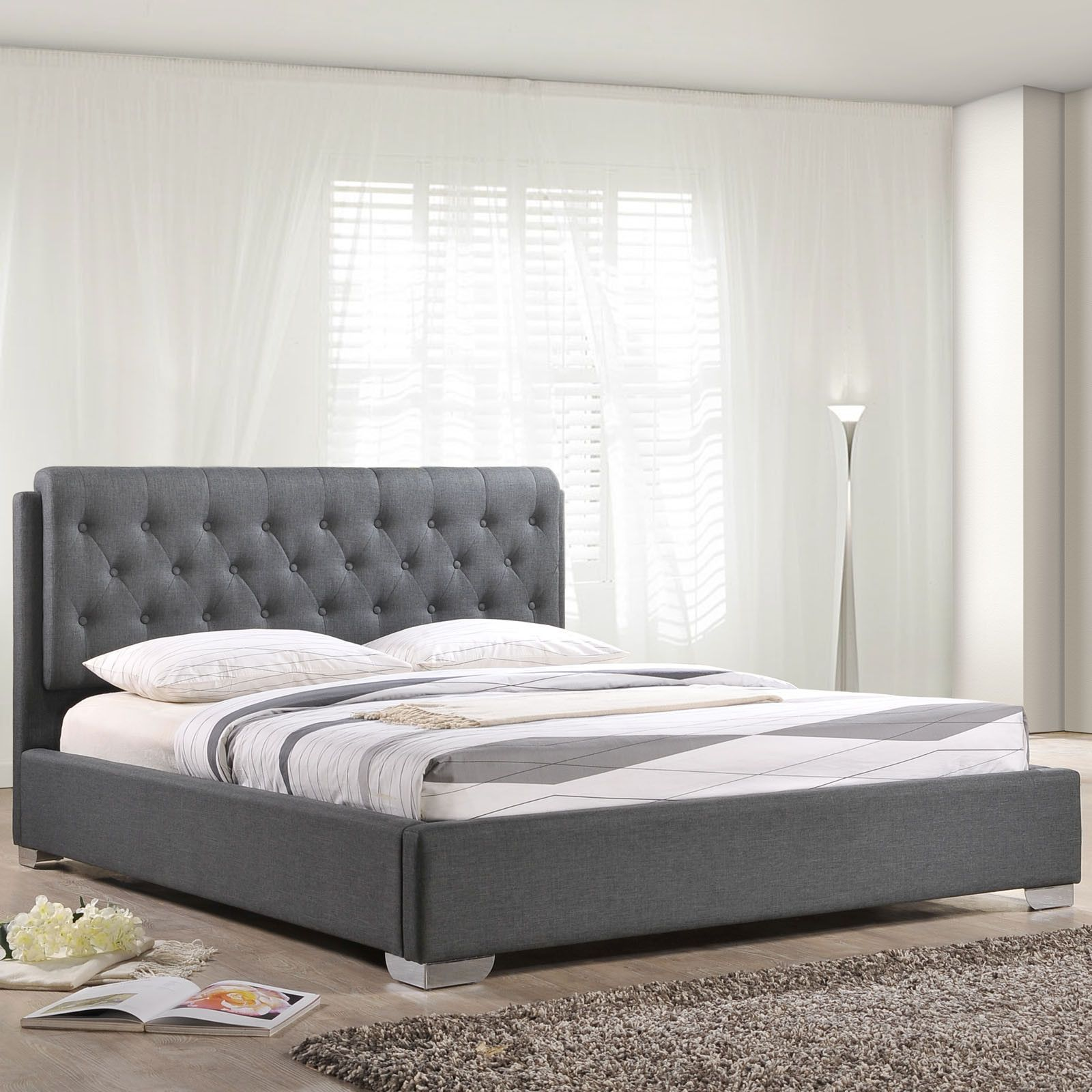 modway amelia full fabric bed frame house pinterest bed