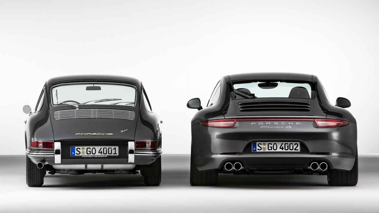 17 Photos Of Classic Cars Next To Their Modern Version | Porsche ...