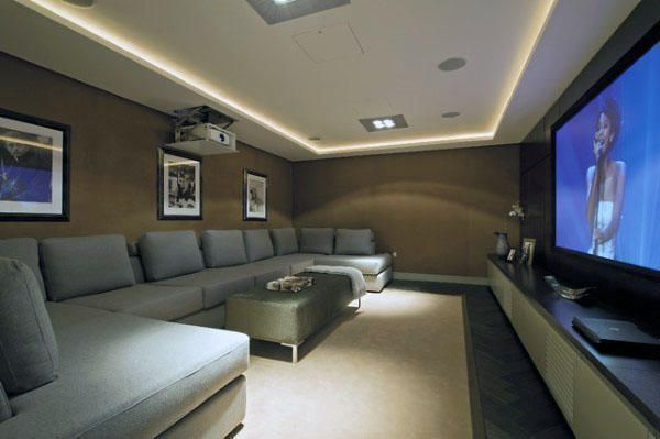 Luxury Diy Basement Home theater