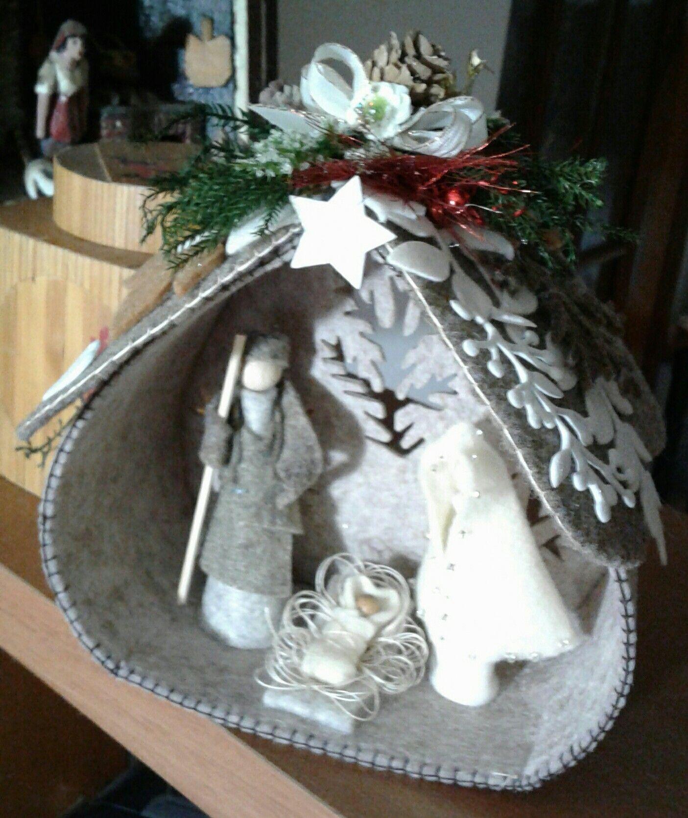 piccolo presepe in feltro luisa valent Karácsony