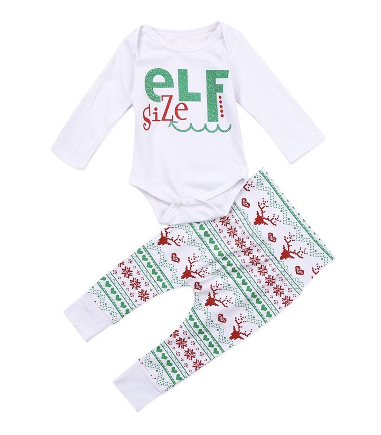 Baby Girl Baby Boy Newborn Christmas Holiday Outfit Elf Size Long