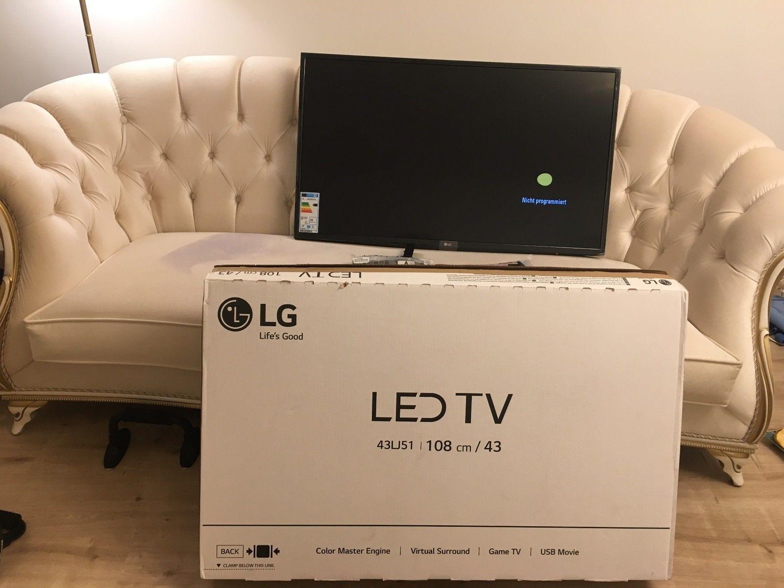 Ebay LED TV LG 43LJ515V LED TV mit sagenhaften 108cm 43 Zoll Bildschirmdiagonale