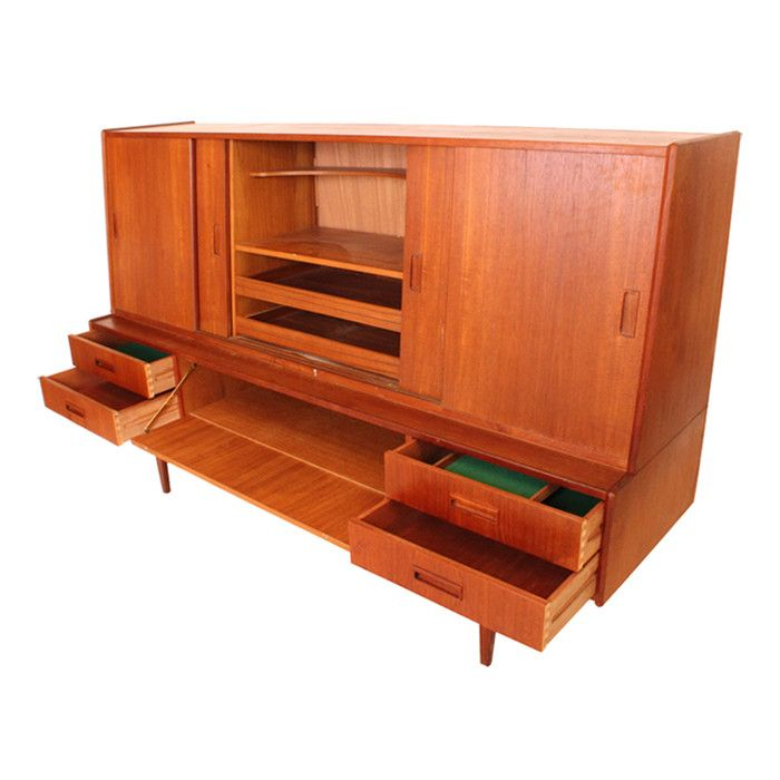 Vintage Mid Century Modern Buffet Danish teak buffet this has so