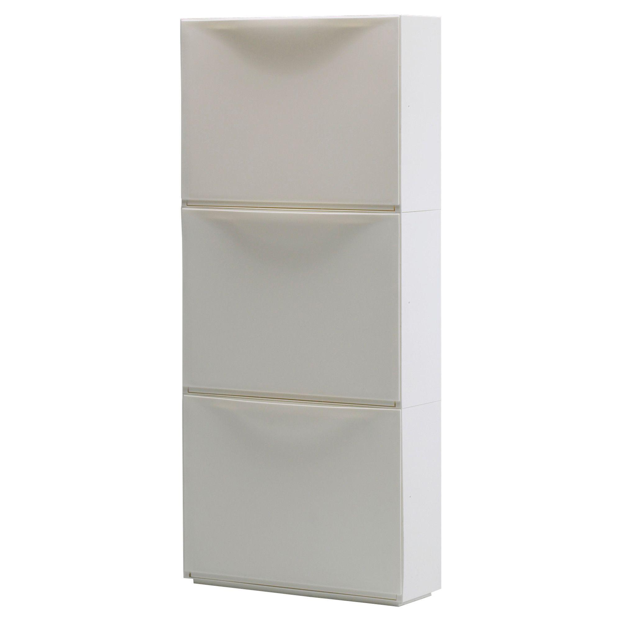 Ikea trones zapatero almacenaje blanco al tener poco fondo ocupa poco espacio y es ideal - Armario poco fondo para pasillo ...