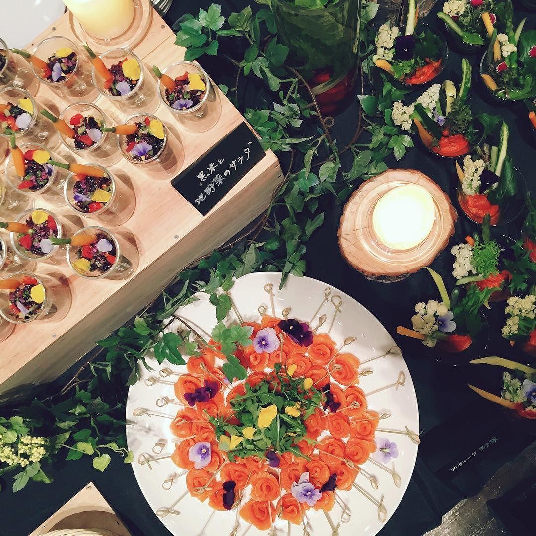 色とりどりの#新鮮 な#野菜 を使った#アペリティフ #スモーク ...