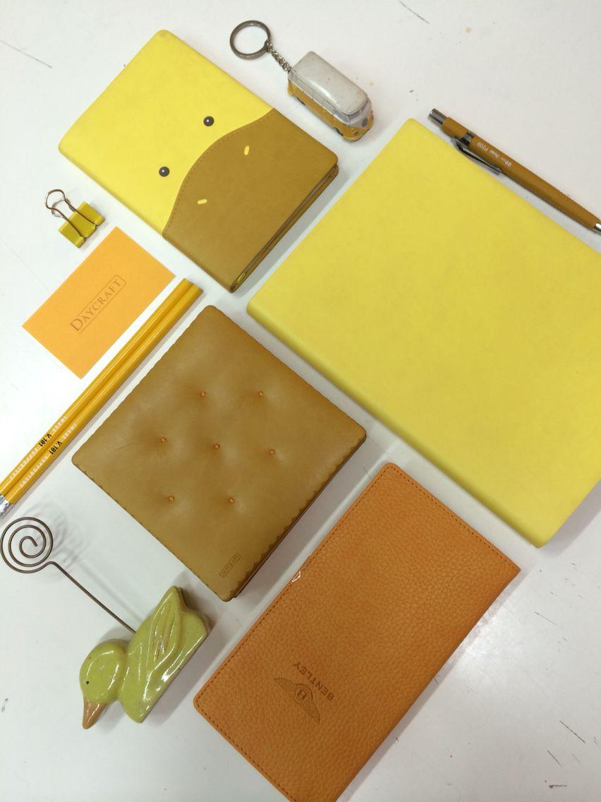 Yellow Daycraft notebooks.  www.daycraftmall.com