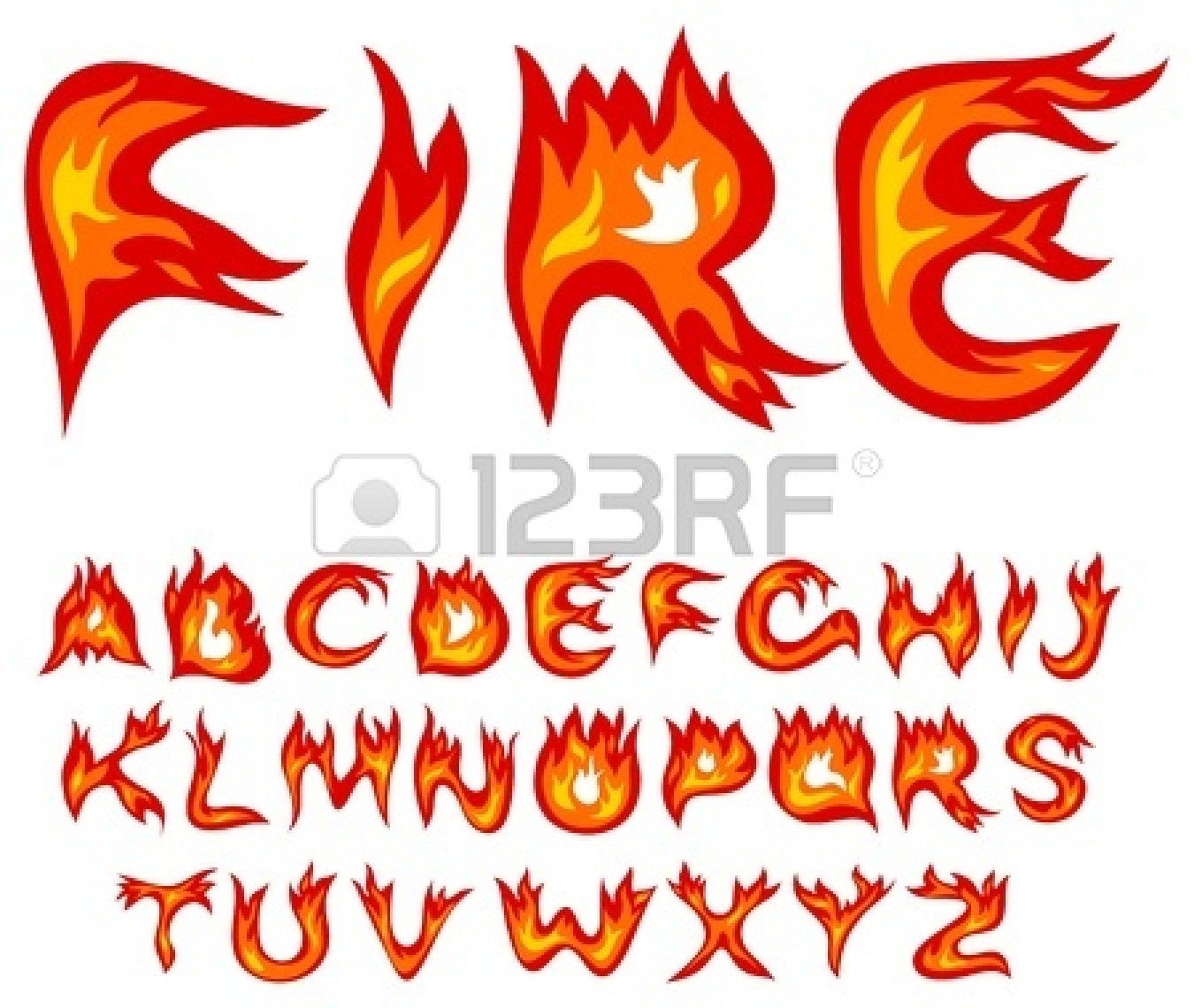 Red Letters Fonts