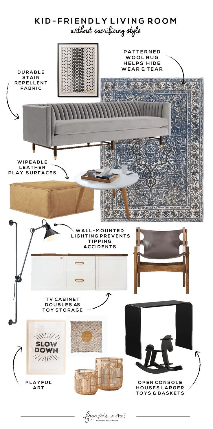 Sources and Layout for Our Kid Friendly Living Room images