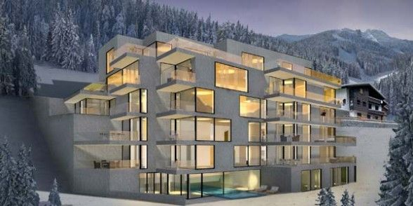 Modern Architecture Mountain Homes schooren des alpes is a 21st-century take on the tyrolean ski