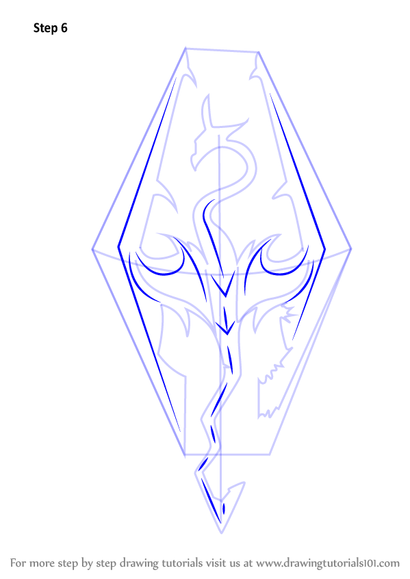 Learn How To Draw Skyrim Logo The Elder Scrolls V Skyrim Step By Step Drawing Tutorials Skyrim Drawing Elder Scrolls Art Skyrim