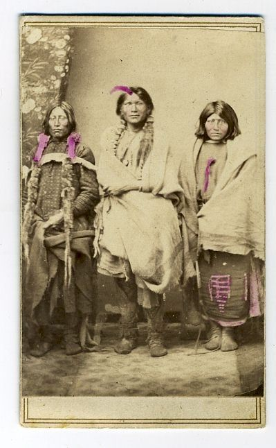 Carte De Visite2 12 X 3 4 No Imprinted Info However Beleived To Be Pawnee Scouts Photographed By Wm Henry H Jackson