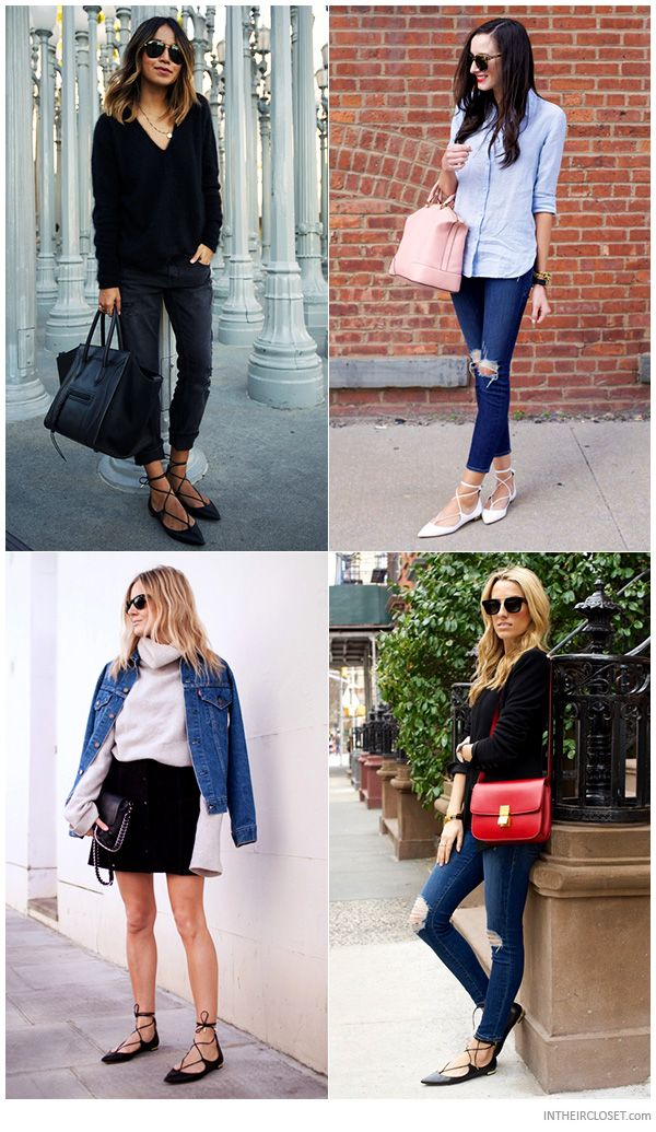 7cc5dd5e75c4 Personal Style Bloggers wearing Aquazzura Christy Lace-Up Flats ...