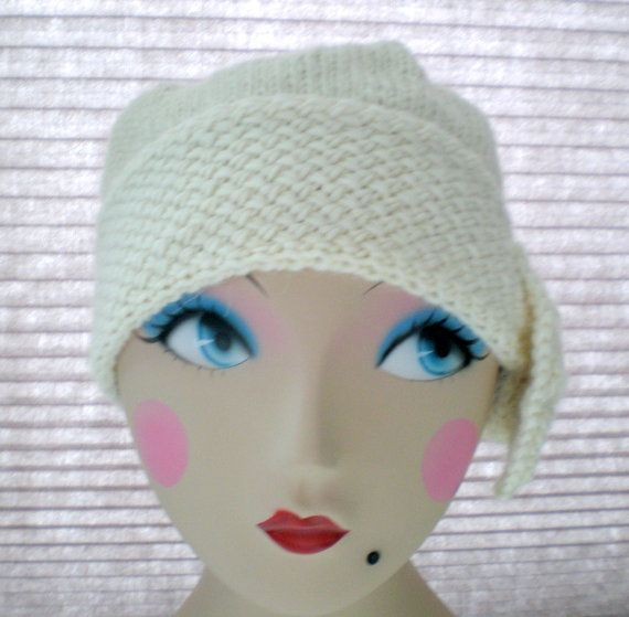 PDF Pattern Women Knit Cloche Hat - Flapper Cloche Hat | Sombreros ...