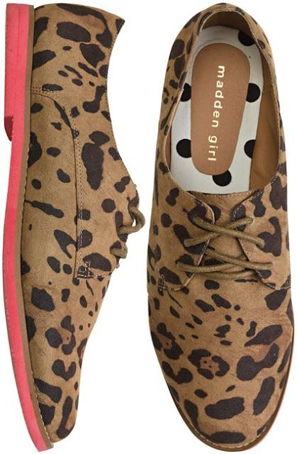 1b142f295e6b Love these Steve Madden Leopard Print Oxfords | Cute Office Attire ...