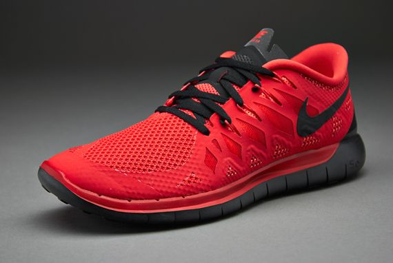 Men's Nike Free 5.0 Action Red Black Sneakers : O73q4343