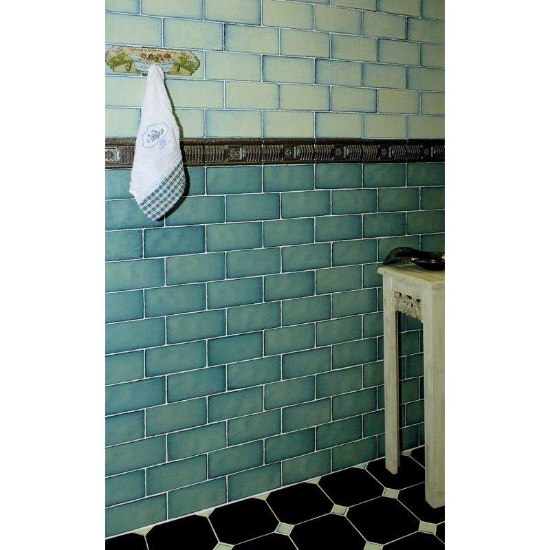 carrelage-retro-mural-satine-vert-75-x-15-cm.jpg (800×800) | cuisine ...