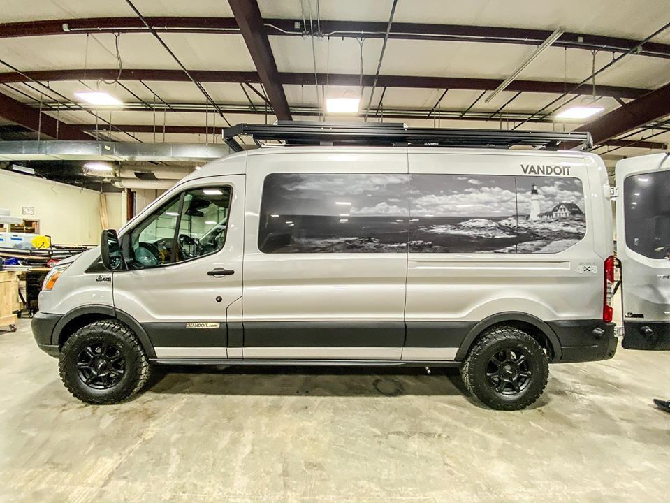 Check Out The Beautiful Custom Windowperfs On This New Vandoit Campervan Fordtransit Vanconvers In 2020