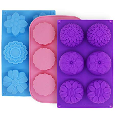 6-Cavity Silicone Mold For Soap Chocolate Cake Jelly Pudding Cookie Baking Mould
