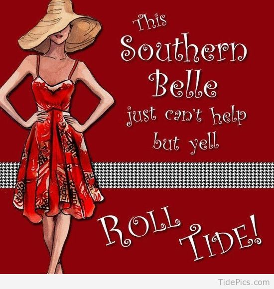 Southern Belle | Alabama Crimson Tide Pictures | TidePics.com #rolltidealabama