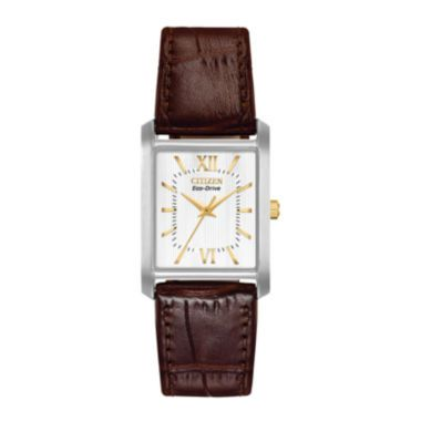 citizen 174 eco drive 174 pairs womens rectangular leather