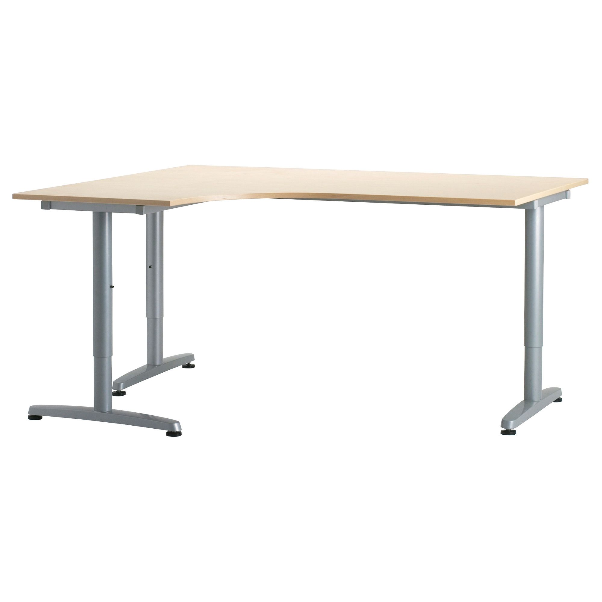 Ikea Kitchen Desk: GALANT Corner Desk-left