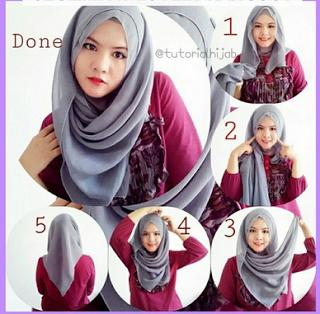 Cara Mudah Pakai Hijab Segi Empat Modern Bagi Pemula Hijab Di 2019