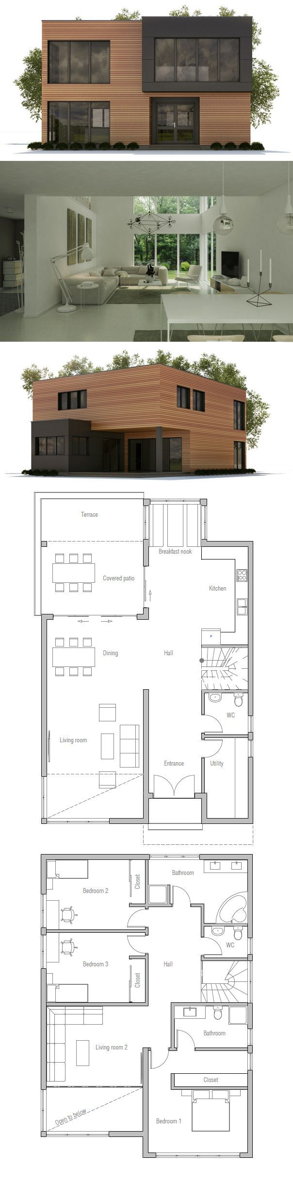 Hauspläne modern  Hausplan, TOP 20 Hauspläne | проекты | Pinterest | House ...