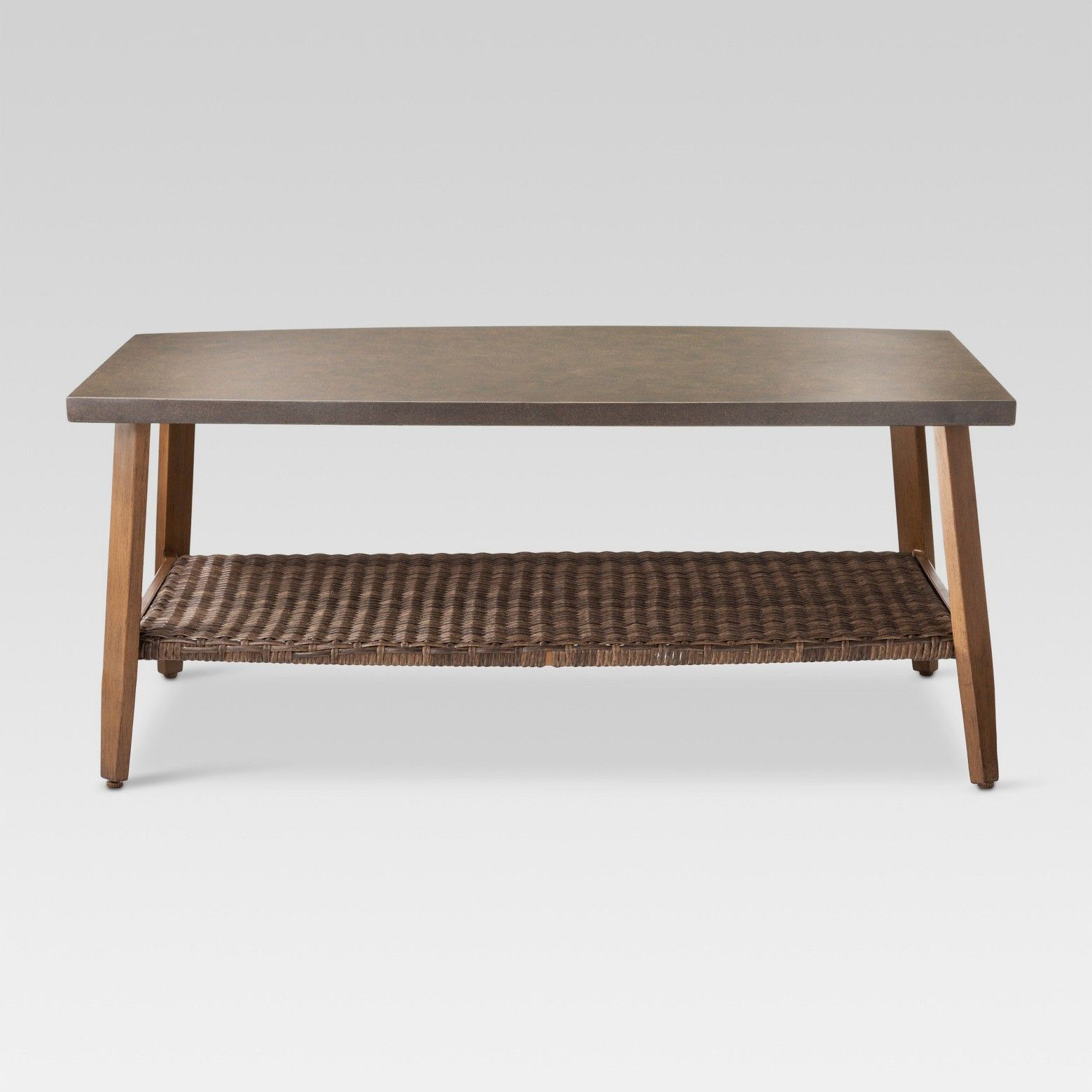 Complete Your Patio Deck Or Favorite Outdoor Space With The Mayhew Wicker Patio Coffee Table From Thres Resin Patio Furniture Coffee Table Wicker Coffee Table