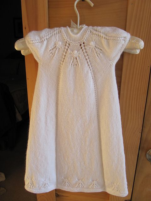 Hand Knitted Christening Dress All Things Yarn And