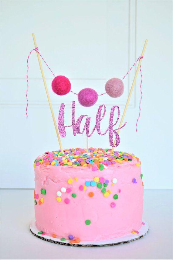 Half Birthday Girl6 Month Photos6 BirthdayHalf Cake Topper 1 2
