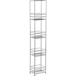 Bathroom Storage Slimline Shelf Caddy Chrome Plated At Argos Co