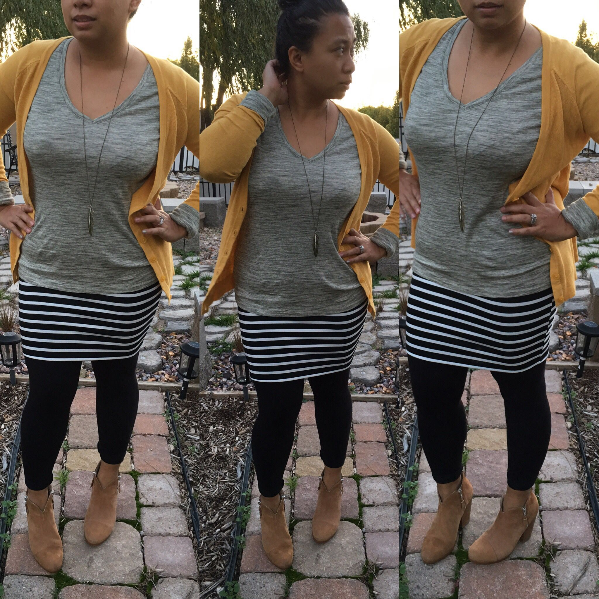 7acc3e451f LuLaroe outfit, LuLaroe style, fall outfits, fall style, how to wear a  skirt with leggings Cardigan: Mossimo Shirt: Mossimo Skirt: LuLaroe Cassie  Leggings: ...