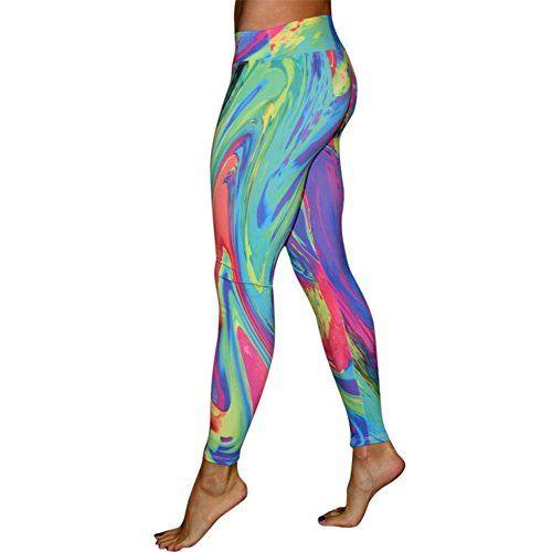 M Womens Yoga Workout Gym Sports Pantalons De Course Leggings Fitness  Stretch Pantalons  e5ffbacf299