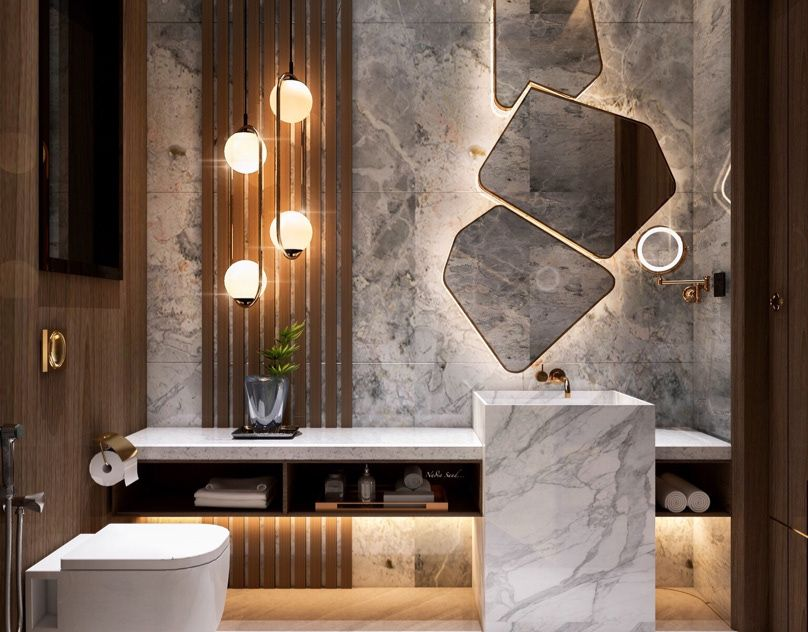 Guest bathroom design in kSA (private villa)