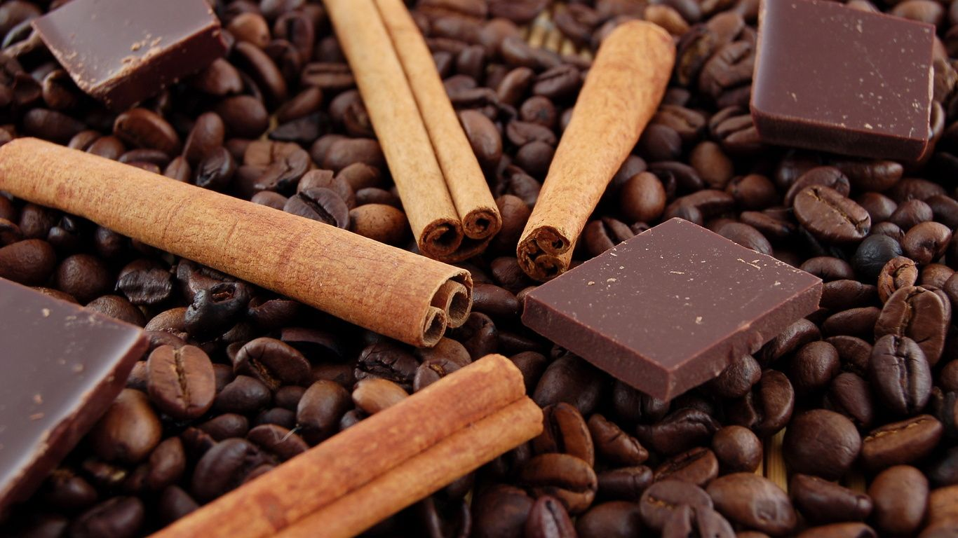 Chocolate en granos de Cafe