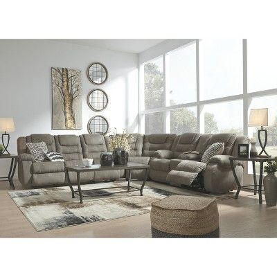 Pleasant Signature Design By Ashley Segburg Reclining Sofa Gray In Pabps2019 Chair Design Images Pabps2019Com