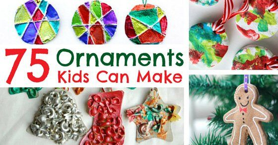 Some of my favorite holiday decorations are ornaments kids can make