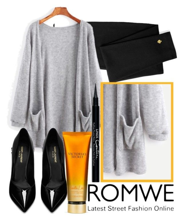 """ROMWE"" by amilasahbazovic ❤ liked on Polyvore featuring Kate Spade, Yves Saint Laurent and Givenchy"