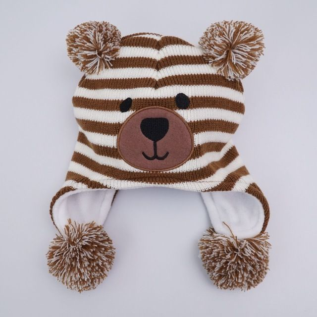 Good price New style Knitted Kids Winter Baby Hats cartoon bear Thick Warm Children Hats For Girls/Boys Cap Baby just only $7.35 with free shipping worldwide  #babyboysclothing Plese click on picture to see our special price for you