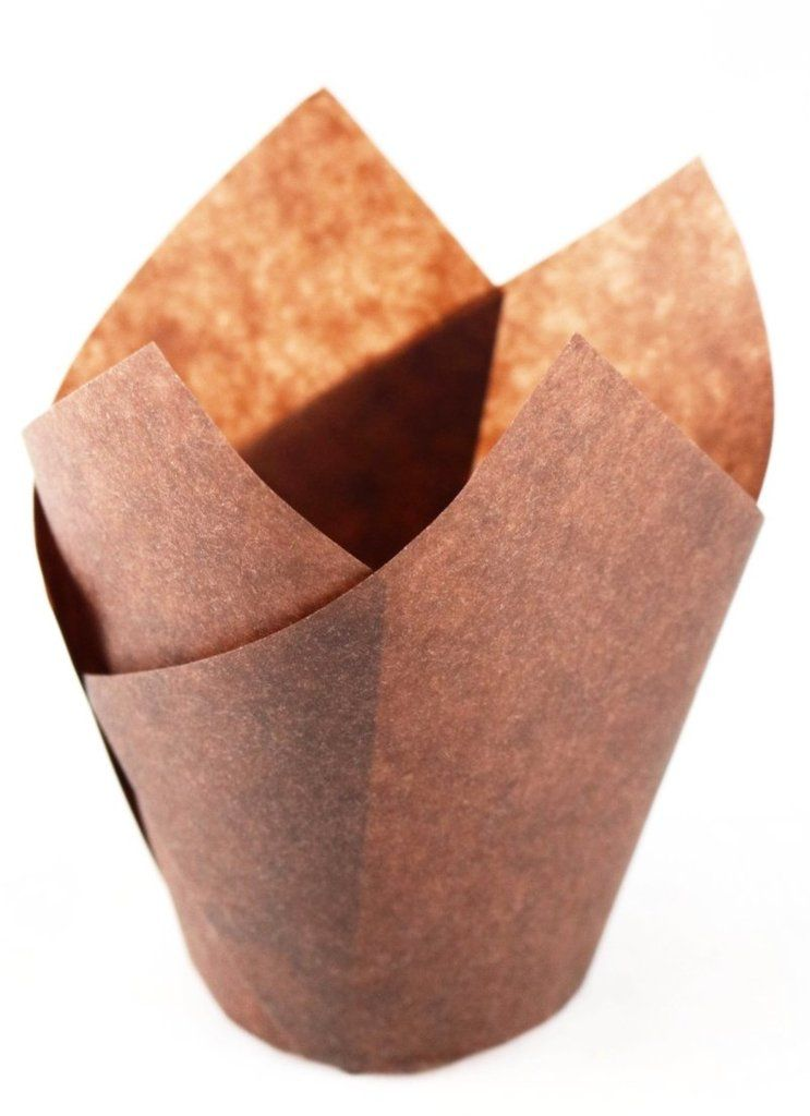 Unbleached Brown Tulip Cupcake Baking Liners 120 Pcs Fits Standard Muffin Pans Large Cupcake Cupcakes Paper Cake