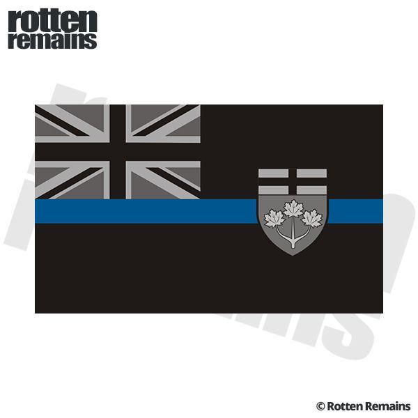 Ontario Provincial Flag Thin Blue Line ON Police Sheriff OPP - Custom vinyl decals ontario
